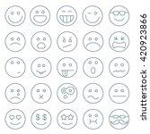 thin line emoticon vector icon...