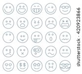 thin line emoticon vector icon... | Shutterstock .eps vector #420923866