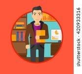 cheerful successful businessman. | Shutterstock .eps vector #420933316