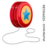 red yo yo with white string... | Shutterstock .eps vector #420946186