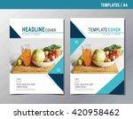 flyer leaflet brochure template ... | Shutterstock .eps vector #420958462