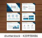 collection of blue presentation ...   Shutterstock .eps vector #420958486