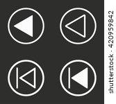 backward  vector icon. white... | Shutterstock .eps vector #420959842
