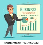 businessman gives a... | Shutterstock .eps vector #420959932