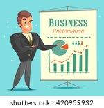 businessman gives a... | Shutterstock .eps vector #420959932