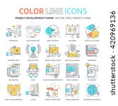 color line  marketing concept...