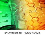 chemistry science formula and... | Shutterstock . vector #420976426