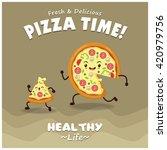 vintage pizza poster design... | Shutterstock .eps vector #420979756