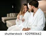 couple enjoying wellness...   Shutterstock . vector #420980662