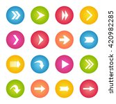 colorful arrow icon circle web...