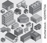 set of isolated 3d  isometric... | Shutterstock . vector #420990766