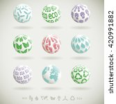 set of 3d icons with... | Shutterstock .eps vector #420991882