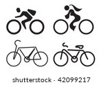 Bicycle Sign And Symbol Shapes