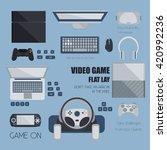 video game flat design. various ...
