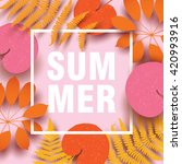 summer card with colorful... | Shutterstock .eps vector #420993916
