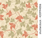 seamless floral pattern.... | Shutterstock .eps vector #420994006