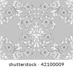 retro seamless tiling floral...