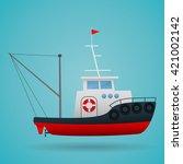 tugboat. fisherman ship.... | Shutterstock .eps vector #421002142