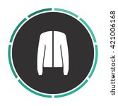 jacket simple flat white vector ...