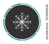 snowflake simple flat white...