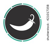 chili simple flat white vector...