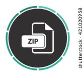zip simple flat white vector...