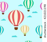pattern with balloons. balloons ... | Shutterstock .eps vector #421021198