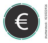 euro simple flat white vector... | Shutterstock .eps vector #421022416