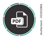 pdf simple flat white vector...