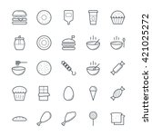 food cool vector icons 1 | Shutterstock .eps vector #421025272