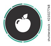 apple simple flat white vector...