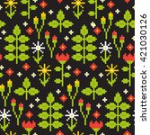 seamless floral nature pattern... | Shutterstock .eps vector #421030126