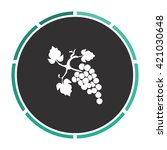 grapes simple flat white vector ...