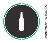 alcohol bottle simple flat...