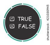 true and false simple flat...