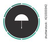umbrella simple flat white...
