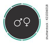 gender simple flat white vector ...