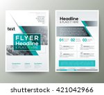 Poster Brochure Flyer design Layout vector template in A4 size | Shutterstock vector #421042966