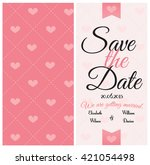 wedding invitation card... | Shutterstock . vector #421054498