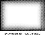grunge border frame. distressed ... | Shutterstock .eps vector #421054582