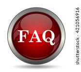 faq icon. internet button on... | Shutterstock . vector #421056916