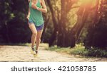 young woman trail runner...   Shutterstock . vector #421058785