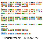 flag of world. vector icons | Shutterstock .eps vector #421059292