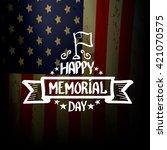 happy memorial day vector... | Shutterstock .eps vector #421070575