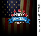happy memorial day vector... | Shutterstock .eps vector #421070806