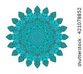 round mandala. arabic  indian ... | Shutterstock .eps vector #421078852