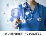 medicine doctor   nurse working ... | Shutterstock . vector #421083592