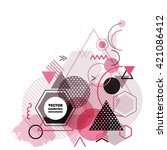 vector abstract modern... | Shutterstock .eps vector #421086412