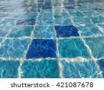 swimming pool background | Shutterstock . vector #421087678