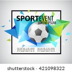 abstract soccer football poster ... | Shutterstock .eps vector #421098322